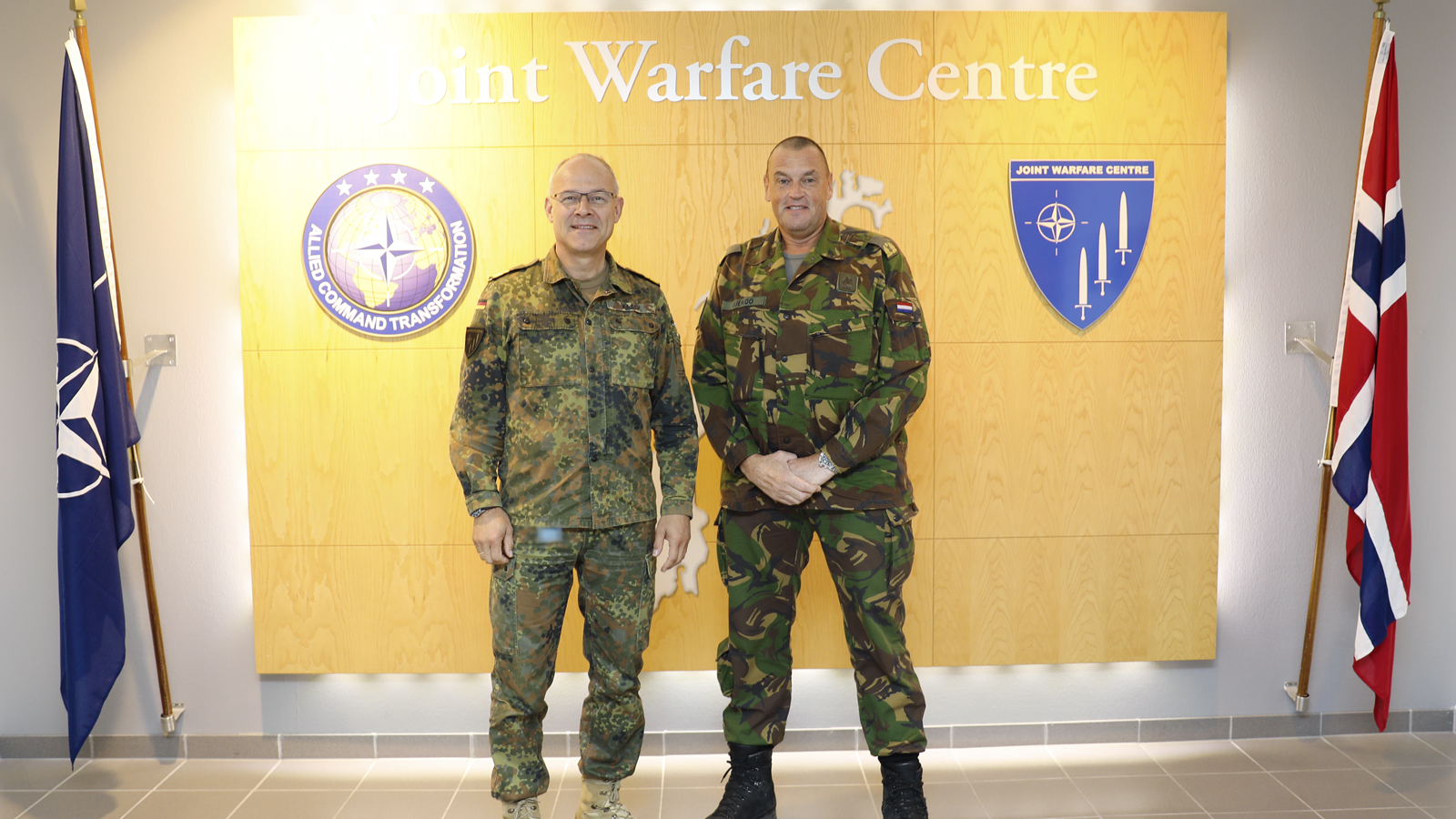 1 (German/Netherlands) Corps Chief of Staff visits Joint Warfare Centre