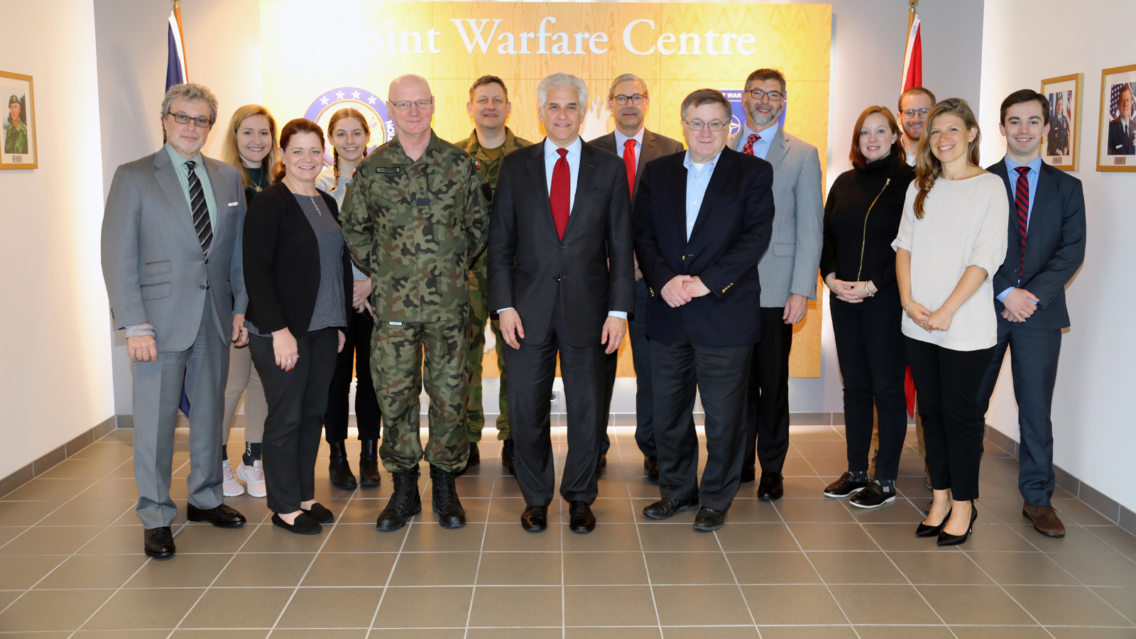 A delegation from the Atlantic Council visits Joint Warfare Centre