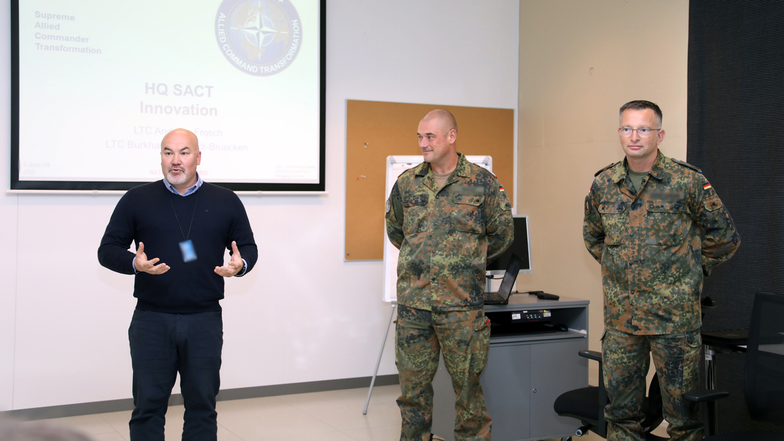 Guest briefings on Human Capital at Joint Warfare Centre