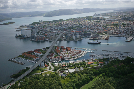 "<strong><font size=""2"">Downtown Stavanger</strong><br /> View of the City</font>"