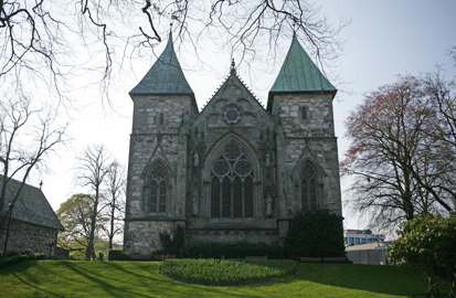 "<strong><font size=""2"">Stavanger Cathedral</strong><br /> View of the Cathedral</font>"